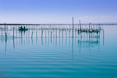 Albufera Valencia lake wetlands mediterranean Stock Images