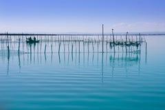 Albufera Valencia lake wetlands mediterranean Stock Images