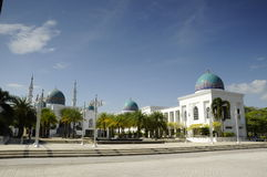 AlBukhari清真寺尖塔在吉打 库存图片