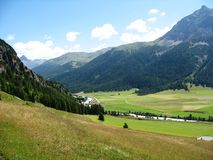 Albula Pass. Albulla pass in Austria, is a beautifull road with a awsome landscape Royalty Free Stock Photography