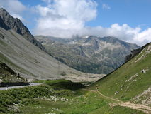 Albula Pass. In Austria is a beautiful scenic road and a good hicking place Stock Photos