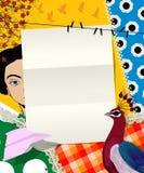 Collage de lettre Image stock