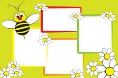 Album à gosse - abeille et marguerites Images libres de droits