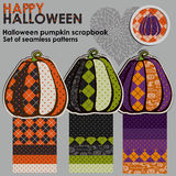 Album à potiron de Halloween Image stock