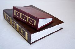 Album. Two clasic style picture album Royalty Free Stock Photos
