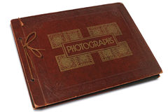 Album. A vintage photographs album on white Stock Photography