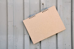 Album with cardboard sheets on springs Royalty Free Stock Photos