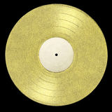 Album d'or de LP Photographie stock libre de droits