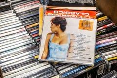 Album de CD de Kelly Rowland simplement profondément 2002 sur l'affichage à vendre, chanteur américain célèbre, compositeur, actr image stock