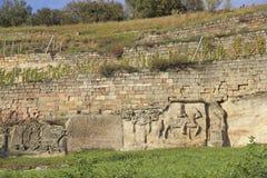Album de vignoble et de pierre dans Grossjena au Saxe-Anhalt en allemand Images libres de droits