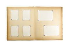 album di foto degli anni 50, isolato su bianco. Fotografia Stock