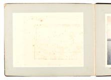 Album di foto dell'oggetto d'antiquariato Immagine Stock