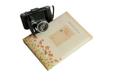 Album di foto e macchina fotografica dell'annata Fotografie Stock Libere da Diritti