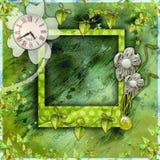 Album di foto verde dell'album Fotografie Stock