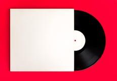 Album e copertura di record vuoto Fotografia Stock Libera da Diritti
