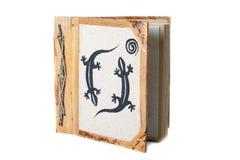 Album fotograficzny z dekoracją odizolowywającą na białym tle obraz stock