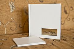 Album fotograficzny z ślubnymi fotografiami 4223 fotografia stock