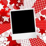Album page for scrapbook with photo frame and love motifs background royalty free illustration