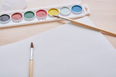 Album and paint royalty free stock images
