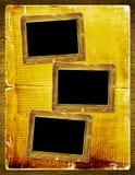Album pour la photo avec le journal antique Image stock