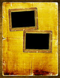 Album pour la photo avec le journal antique Image libre de droits