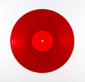 Album record rosso del vinile Fotografie Stock Libere da Diritti