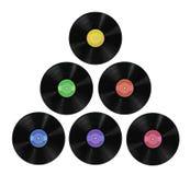 album registrerar vinyl Arkivbilder