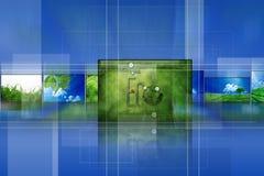 Album vert Image libre de droits