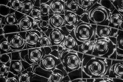Albumen macro shot. Microscopic detail of some dried egg white in dark back Royalty Free Stock Photo