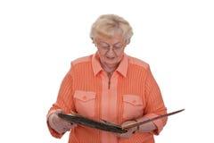 albumowa fotografii seniora kobieta obrazy stock
