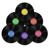 Albums record de vinyle photographie stock libre de droits