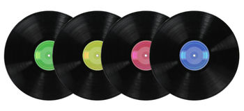 Albums record de vinyle photo libre de droits