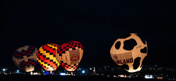 Albuquerque-Ballon-Fiesta-Abend-Glühen 2015 Stockfotos