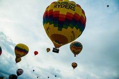 Albuquerque-Ballon-Fiesta-Produkteinführung 2015 Lizenzfreie Stockbilder