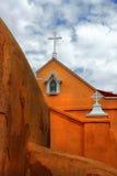 Albuquerque church. Red church in Albuquerque Royalty Free Stock Photo