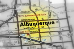 Albuquerque, New Mexico - United States U.S. Albuquerque city in the U.S. state of New Mexico black and white selective focus royalty free stock images