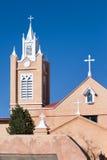 Albuquerque landmark. San Felipe de Neri Church in Albuquerque, NM Royalty Free Stock Images