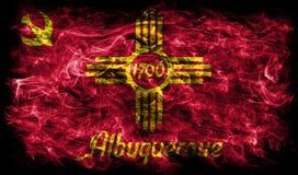 Albuquerque miasta dymu flaga, Nowa - Mexico stan, Stany Zjednoczone ilustracja wektor