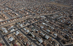 Albuquerque Homes Aerial royalty free stock image