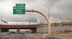 Albuquerque, New México, I-40 salida 161 San Mateo Blvd foto de archivo libre de regalías