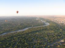 Albuquerque New Mexico hot Air Balloon festival. Multi colorful epic rides royalty free stock images