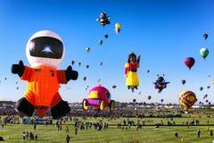 ALBUQUERQUE, NEW MEXICO - OCTOBER 06, 2013: Hot Air Baloon Fiesta in Albuquerque, New Mexico. ALBUQUERQUE, NM - OCTOBER 06, 2013: Hot Air Baloon Fiesta in Royalty Free Stock Photos