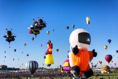 ALBUQUERQUE, NEW MEXICO - OCTOBER 06, 2013: Hot Air Baloon Fiesta in Albuquerque, New Mexico. ALBUQUERQUE, NM - OCTOBER 06, 2013: Hot Air Baloon Fiesta in Stock Photo