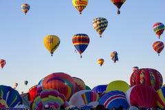 ALBUQUERQUE, NEW MEXICO - OKTOBER 06, 2013: De Fiesta van hete Luchtbaloon in Albuquerque, New Mexico Stock Foto