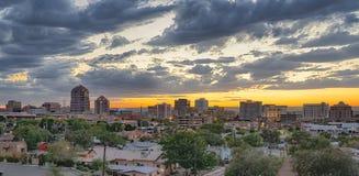 Albuquerque, New Mexico Skyline. ALBUQUERQUE, NM - OCTOBER 12: Albuquerque, New Mexico Skyline at sunset on October 12, 2017 Stock Photos
