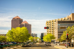 Albuquerque new mexico skyline of downtown Stock Photos