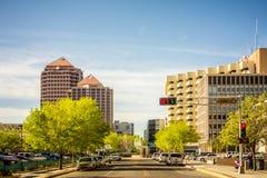 Albuquerque new mexico skyline of downtown Stock Photos