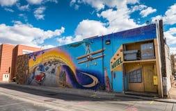 Mother Road - Route 66 - Mural. Albuquerque, New Mexico / USA / April 1, 2016: The Mother Road / El Camino de los Caminos Mural designed by Joe Stephenson Royalty Free Stock Photos