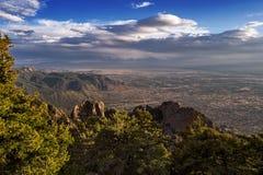 Albuquerque, New Mexico van de Sandia-Bergen Stock Foto
