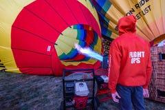 ALBUQUERQUE, New Mexiko im Oktober 2018: Internationale Heißluft-Ballon-Fiesta Albuquerques Lizenzfreies Stockfoto